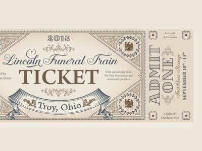Vintage Train Ticket photoshop indesign print design