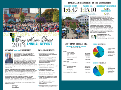 Non-profit Annual Report Trifold Brochure branding and identity print design photoshop indesign