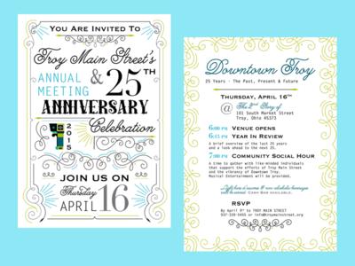 Annual Meeting Invitation print design indesign