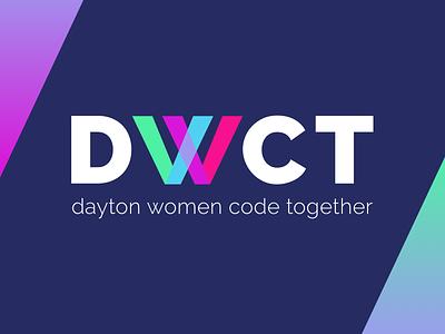 Logo for Dayton Women Code Together logo sketch design branding