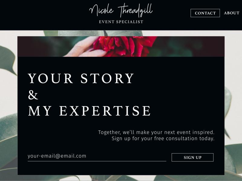Branding Mockup - Sign Up Page typography dailyui design ui event planner branding