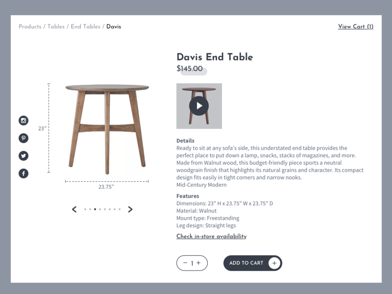 Product Page Design ux branding color typography design
