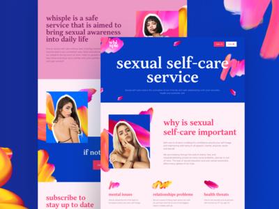 Whisple. Sex-tech project