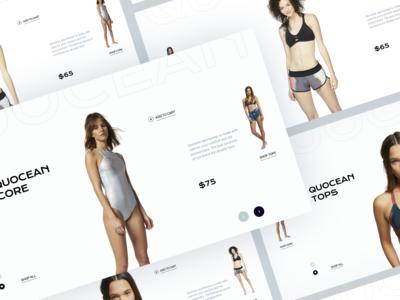 Quocean. Eco-friendly sportswear website. V3