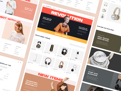 SoundSpace. Hi-End Audio Store photoshoot store ecommerce technical premium bangolufsen fashion music audio design uiux web design typography product design branding