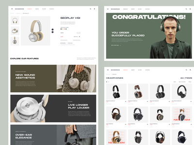 SoundSpace. Hi-End Audio Store typography concept design audio premium store headphones website web vector ux uidesign ui shop logo invite figma fashion ecommerce design concept