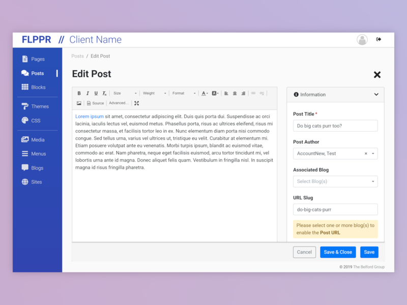 FLPPR - Post Editor by Erik Northfell on Dribbble