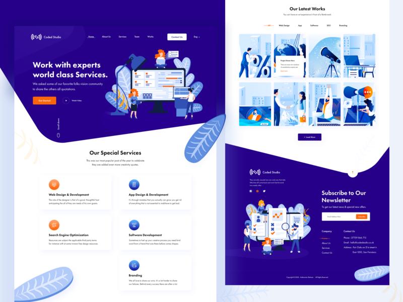 Coded Studio : Digital Agency Website