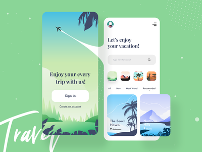Travel Services Mobile App typography creative product travel services trip tour mobile app ui illustration uiux designer ui  ux design dribbble best shot sign in app ui kit travel app app design ios app design mobile app design mobile app mobile ui