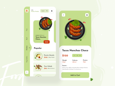 Food Delivery App Design ecommerce typographic typography illustration uiux ui  ux design uxdesign uidesign 2020 trend dribbble best shot food illustration food app foo delivery application design app ui kit app ui ux ios app design app design mobile app mobile ui