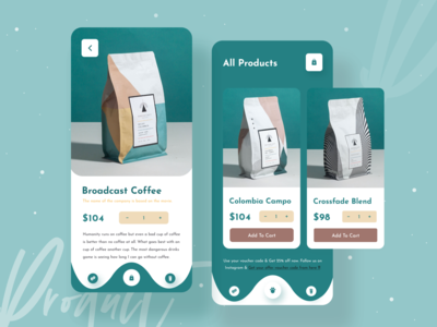 Product Page Ui Exploration uiux designer ecommerce app ecommerce typography minimalist coffee shop shopify dribbble best shot 2020 trends products ios app design apps screen mobile app design mobile apps app design ui design uiux mobile ui kit mobile app