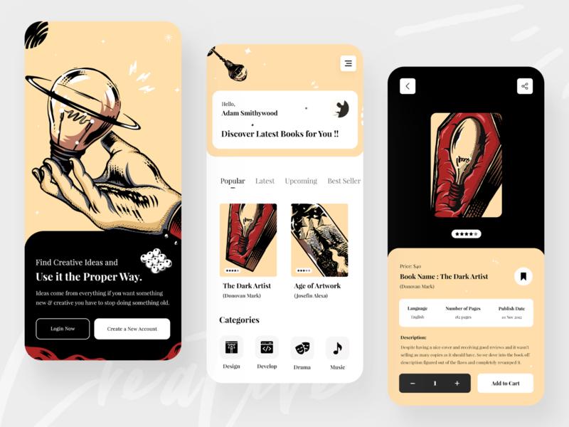 Book App : Mobile UI Exploration