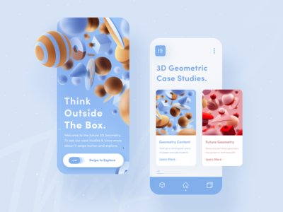 Geometric Mobile UI Exploration