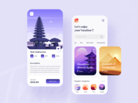 Travel Service - App Design ✈ booking vacation travel services tourism lifestyle 2020 trend dribbble best shot trip planner trip travell travel agency travel app travel mobile design mobile app app design app