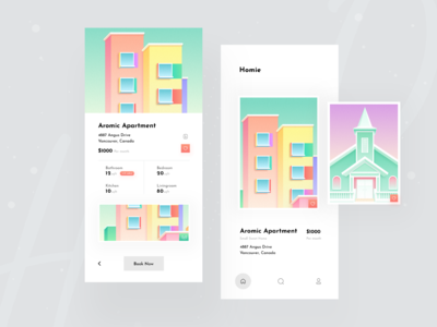 Online Flat Booking App Concept home app creative app concept booking app apartment homie popular shot dribbble best shot 2020 trend ui ux real estate search app app designer minimal house booking app application design mobile app mobile application ios app app design