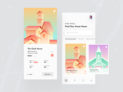 Booking App Concept popular shot awsmd dribbble best shot 2020 trend apartment house booking app creative uiux designer ui  ux design app ui mobile app mobile mobile ui booking app design concept booking app apartment app
