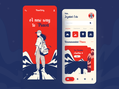 TravelStory : Adventure App Ui app booking vacation lifestyle trip planner travel agency trip travel app mobile app design uiux designer creative dribble best shot 2020 trend uidesign ui  ux app design travelstory travel mobile ui mobile app
