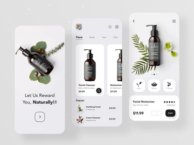 Beauty Product Shop App skincare app beauty shop ios lifestyle shop online store app facial ui design trendy shopify ecommerce app ecommerce ui  ux design ui ux app ui mobile app product app product beauty app beauty