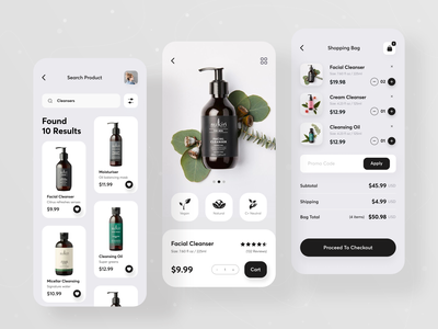 Beauty Product Shop App shopping cart beauty product beauty app online store online shop ecommerce app product design product shopping app shopify shop app ui ux ios app trendy app ui app design mobile app creative uiux designer ui  ux design