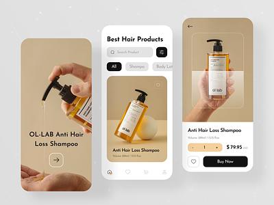 Natural Shampoo Store App hair care skicare care app orizon shopify app design uiux product app ios app app ui mobile app care natural conditioner body lotion shampoo beauty cosmetics ecommerce appshop