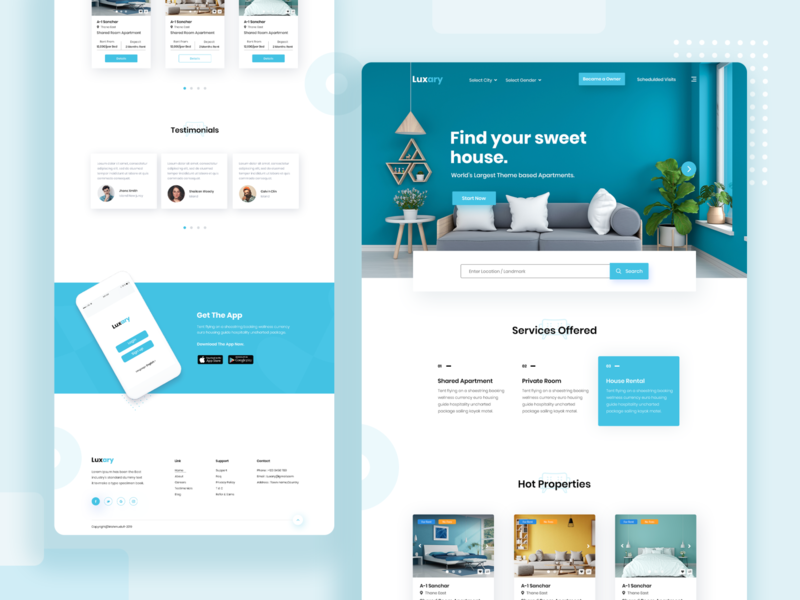 Luxary Apartment Rental Landing Page