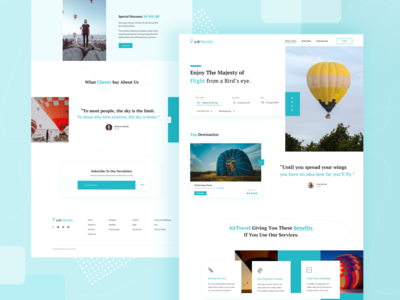 AirTravel : Travel Landing Page