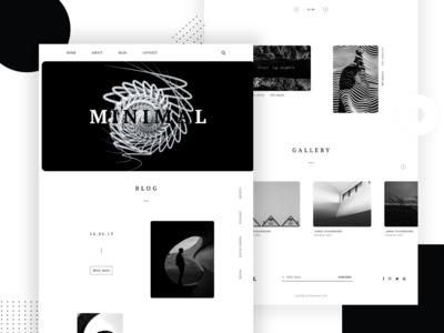 Black and White :  Minimal Design - Landing page