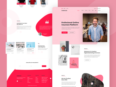 Creative Agency Landing Page Design online website 2019 trends startup ui  ux agency website typography colorful best agency agency template landing page concept creative minimal ui ux ui  ux design psd template dribbbble psd design
