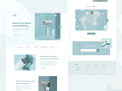Beauty Shop : Product Homepage Concept