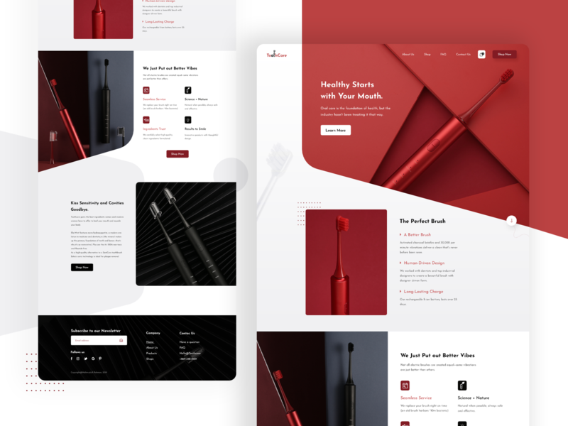 ToothCare : Product Homepage