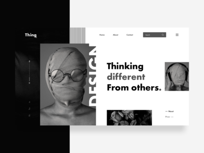 Header Design : Thinking Different