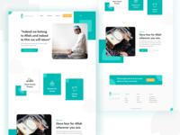 Janazah Prayers Homepage Design