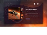 """Concept """"Tour of planet Mars"""""""