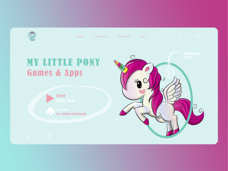 "Concept - Game ""My little pony"" horse my little pony game pony"