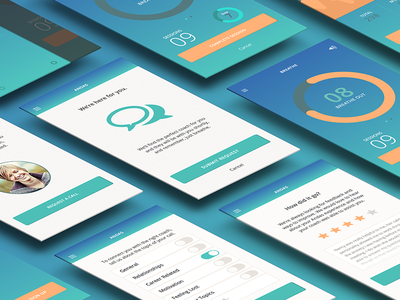 Andas - Personal Coaching App ui color mockup sketch branding app concept design mobile