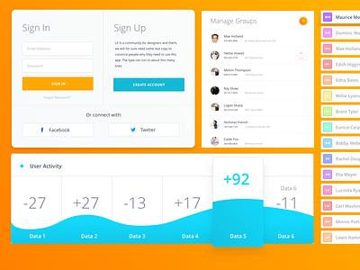 Dashboard Concepts sketch dashboard ui admin panel