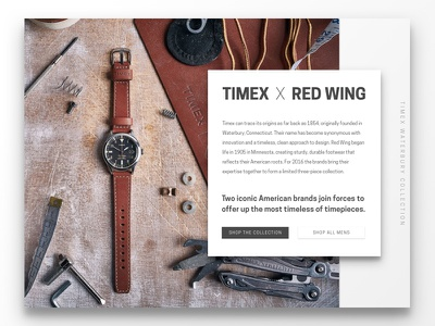 Timex Landing Page product ux ui landing page timex 003 daily ui