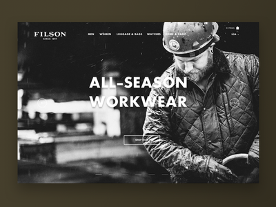 Filson Homepage redesign ecommerce ui homepage filson