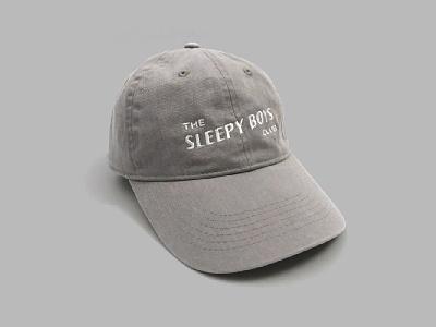 The Sleepy Boys Club Hat - Gray the sleepy boys club branding logo embroidery logotype brand dad hat apparel hat