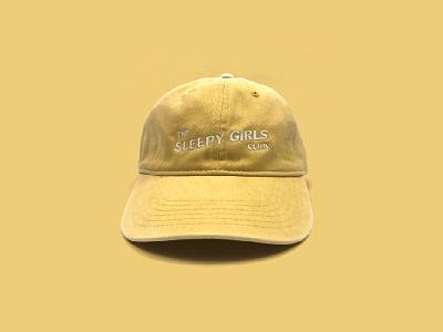 The Sleepy Girls Club Hat - Yellow branding logo embroidery logotype brand dad hat apparel hat the sleepy girls club