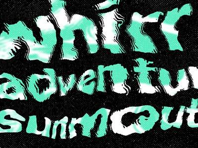 Whirr / Adventures flyer
