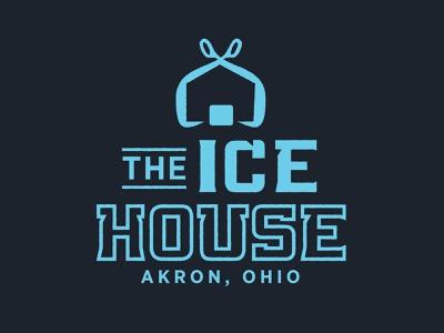 The Ice House ice cube brand icon type house ice ice house typography logo branding