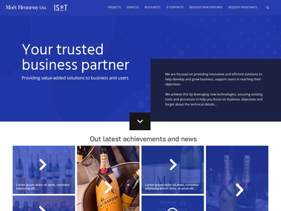 Home page of MH IT website
