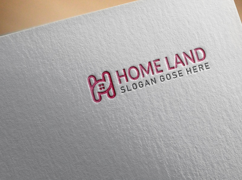 H letter logo contraction flatdesign lettering logos hlogo buliding home contracting hletterlogo hletter flat