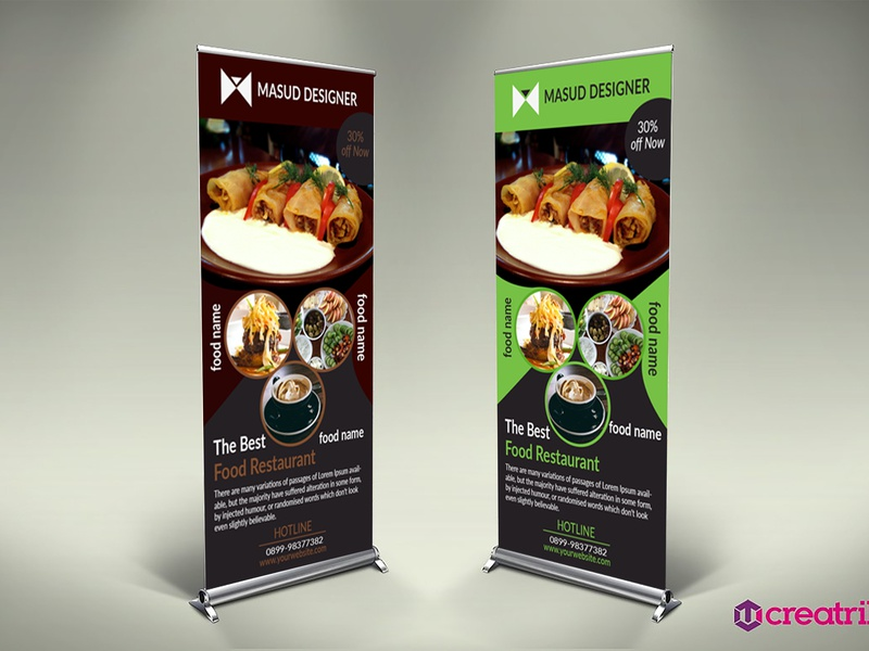 Restruent Rollup Banner by Md Masud Khan on Dribbble
