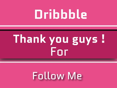 Dribbble follow