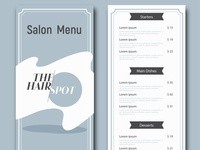 Services Menu Design