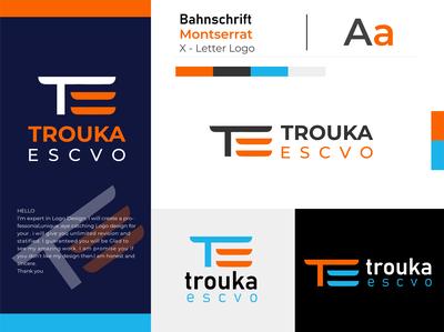 T E Letter Logo
