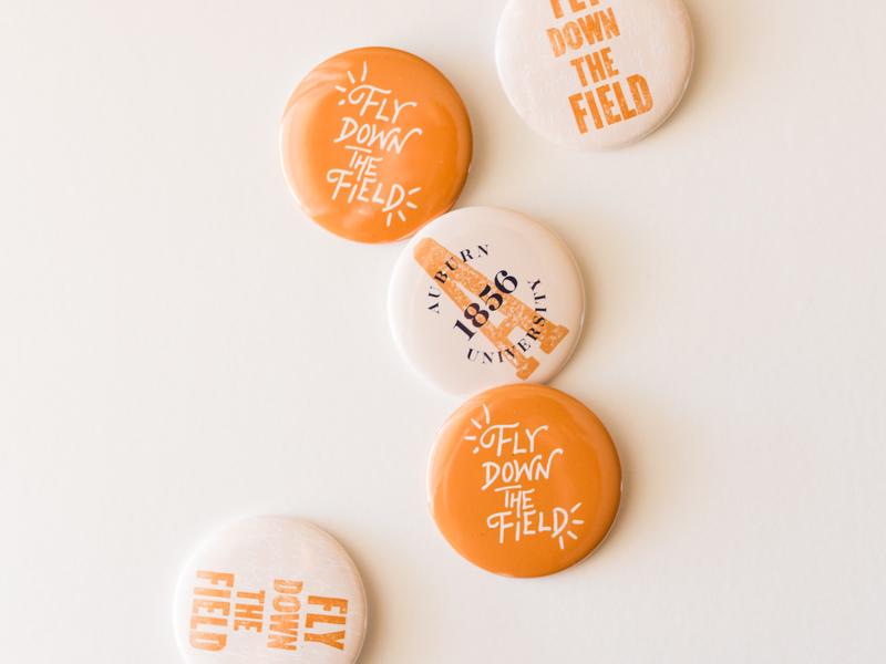 Auburn University Buttons by Charlestan Helton on Dribbble