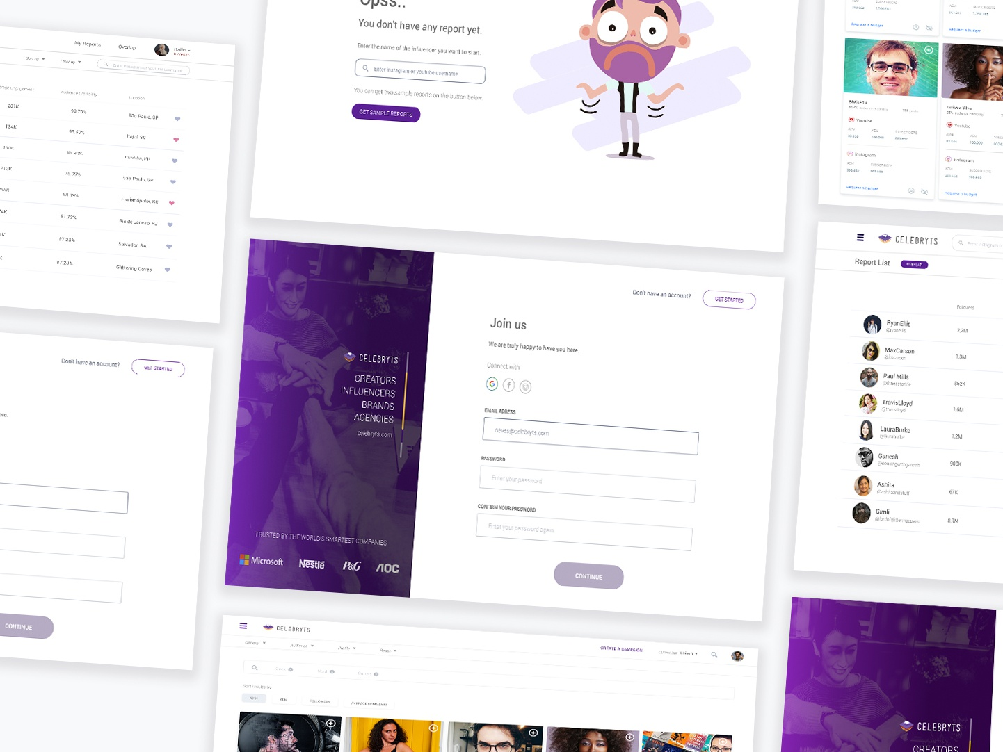 Social Analytics tool project ux  ui cards design cards join us join emptystate user interface dashboard design clean sign up login page login form login dashboard app dashboard ui dashboard clean app ui design app